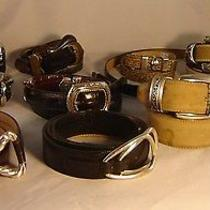 Women's Lot of 11 Brighton & High End Leather Belts Sizes S to L Stylish Buckles Photo