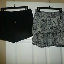 Women's Lot Sz 4 Express Shorts Bcbgeneration Tiered Skirt New Photo