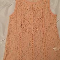 Women's Lucky Brand Blush Pink Crochet Top Size Xs Photo