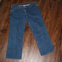 Women's Lucky Brand Jeans Distressed Capri Cropped Pants Sz 12 (31) Photo