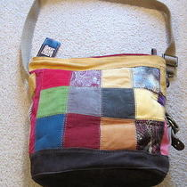Women's Lucky Brand Patchwork Cross-Body Hobo Handbag - Nwt Photo