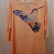 Women's Lucky Brand Shirt  3x  Bird Photo