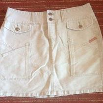 Women's Lucky Brand Tan Khaki Mini Skirt. Size 8/29 Photo