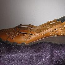 Women's Luggage Tan Sketchers Sports Flats 8m/39 Pre-Owned No Box Photo