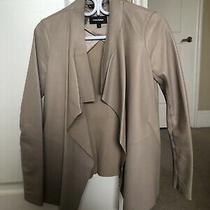 Women's Mackage Beige Leather Jacket Sz Xs Photo