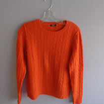 Women's Magaschoni Orange Cashmere Sweater -Small Photo
