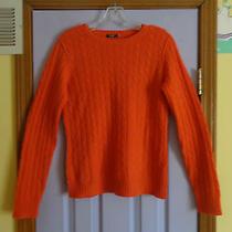 Women's Magaschoni Orange Cashmere Sweater -Small Photo