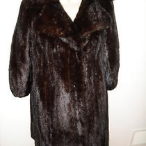 Women's Mahogany Female Mink Natural Fur Jacket Coat  S Photo
