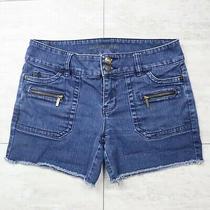 Women's Michael Kors Zip Pockets Cutoff Blue Jean Shorts - Size 4 Photo