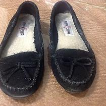Women's Minnetonka Kilty Black Moccasins Photo