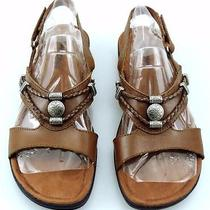 Women's Minnetonka Nut Leather Silverthorne Sandals Shoes Size 8 M Brown Photo