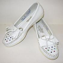 Women's Minnetonka Rhinestone Moccasins Size 6 Photo