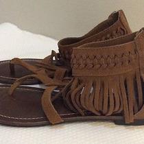 Women's Minnetonka Tan Leather T Strap Sandal Sz. 7  Photo