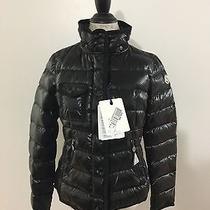 Women's Moncler Armoise Lacquer Short Down Coat Size 2 Medium Black Photo