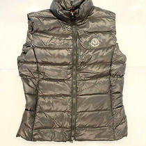 Womens Moncler Down Gilet Vest Ghany Size 1 S Gray Photo
