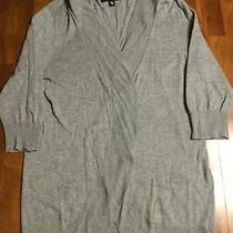 Women's Mossimo 3/4 Sleeve Shrug Sweater Size Xl (Fits Like m) Gray Photo