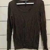 Women's Mossimo Brown Long Sleeved Crew Sweater Shirt Size Xs  Photo