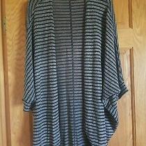 Women's Mossimo Gray Sweater Cape  Sz L Photo