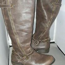 Women's Mossimo Knee High Boots Size 10 Brown Photo