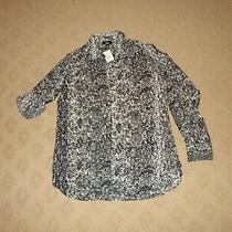 Women's Mossimo Long Sleeve Snakeskin Print Blouse Top Shirt Size Xs  Nwt Photo