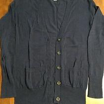 Women's Mossimo Ls Button Up Cardigan Sweater Size Xs Navy Photo