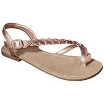 Women's Mossimo Supply co.braided Flat Sandals Lady Rose Gold  Size 11 Nwob Photo