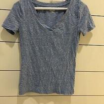 Womens Mossimo Supply v-Neck Tee Short Heathered Blue Xs Shirt   Photo