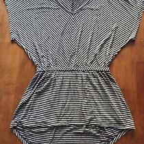 Women's Mossimo Top Size Xs Black/gray Stripe Photo