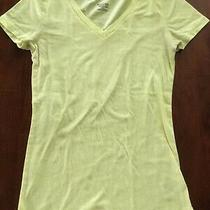 Women's Mossimo v-Neck T-Shirt Size Xs Fluorescent Yellow Photo