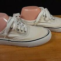 Women's Mossimo White Canvas Sneakers Shoes Size 8 Photo