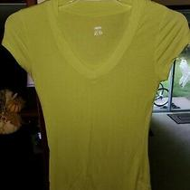 Women's Mossimo Yellow Short Sleeved Stretchy Top Size Xs Photo