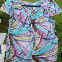 Womens Multi-Colored Shirt by Classic Elements Petite Size  Sp Photo