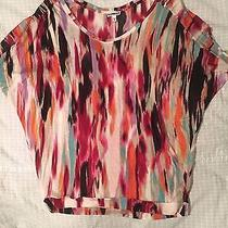Women's Multicolor Retro Express Short Sleeve Blouse Shirt Photo