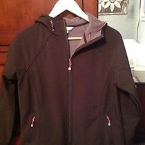 Women's Natural Reflections M Black Hooded Softshell Solid Jacket Photo