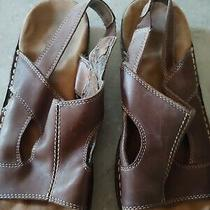 Women's Naturalizer Brown Leather Slingback Comfort Sandals Size 7 1/2 M Photo