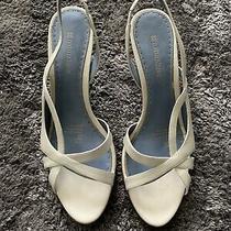 Women's Naturalizer Cream Leather Slingback Pumps Heels Shoes 8.5 Photo