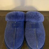 Women's Navy Ugg Slippers Size 9 Excellent Condition Photo
