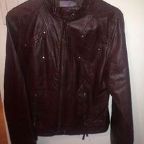 Women's Never Worn Brown Leather Jacket (Topshop) Photo