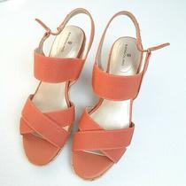 Women's New Bandolino Hearsay 2 Open Toe Orange Slingback Sandals Size 8.5m Photo