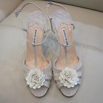 Women's  New Manolo Blahnik Heels Sandals Size 40 Photo
