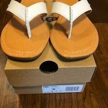 Women's New Ugg White Leather Tuolumne Sandals Size 8 Photo