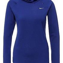 Women's Nike Dri-Fit Element Running Hoodie Dark Blue Medium 685818 455 Photo