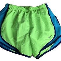 Womens Nike Dri-Fit Running Shorts Green-Blue Small Photo
