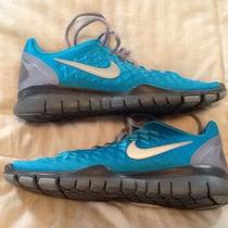Women's Nike Free Tr Fit - Size 8 - Aqua/blue Running or Training - Excellent  Photo