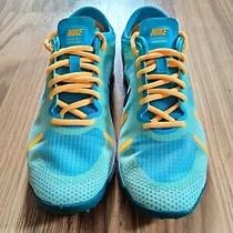 Womens Nike Lunar Element Running Teal Yellow Shoes Size 7 (615743-300) Photo