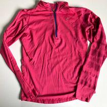 Women's Nike Running Element Half Zip Fuchsia Tie Dye Size Medium M Photo