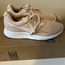 Womens Nike Tanjun Particle Beige Athletic Shoe Pink Blush Size 11 Photo