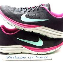 Women's Nike Zoom Structure 17 Charcoal Pink Foil Running 615588-036 Sz 10 Photo