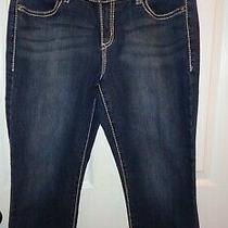 Women's Nine West Double Stitching Capri Jeans With Bling Back Pocket Size 8/29 Photo