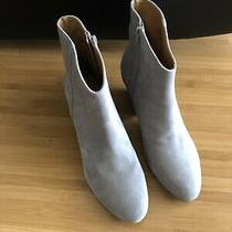 Womens Nine West Gray Suede Western Ankle Boots Booties Sz 9 Nwob Photo